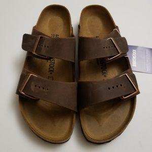 New Birkenstock Arizona Habana Leather Sandals